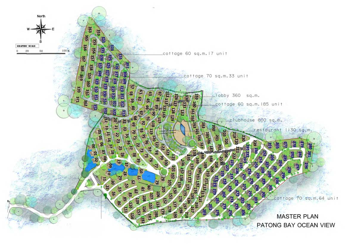 Patong Bay Ocean View Cottages Master Plan