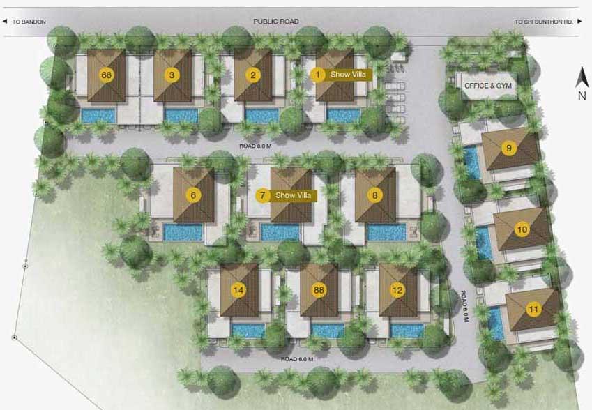 Trichada villas master plan