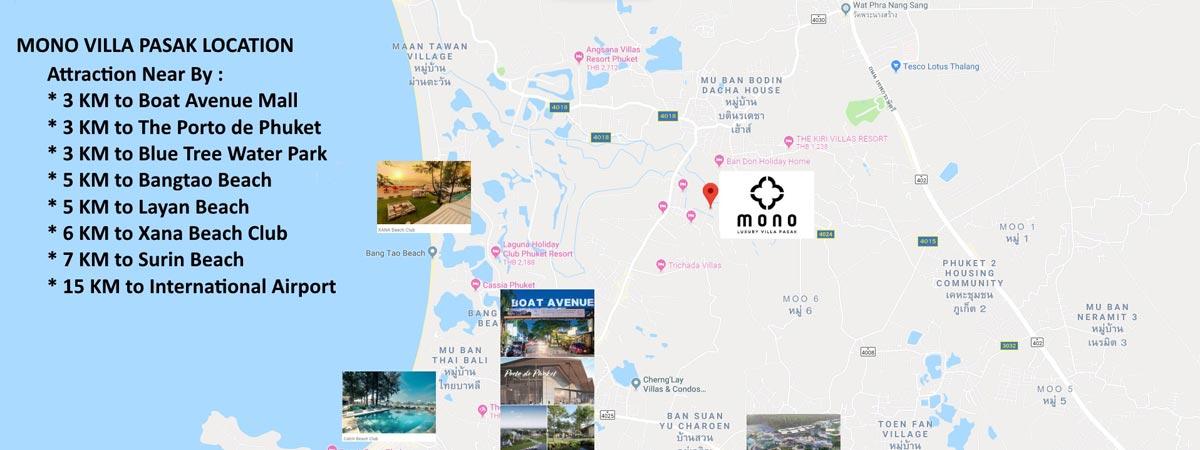 Mono Villa Pasak location